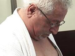 Italian grandfather fucking his secretary