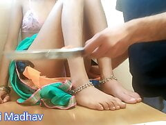 sister in law with green saree fucked very hard  in kitchen